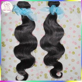 2 bundles KissLocks Weave Beauty Unprocessed Russian human body wave Virgin hair wefts Natural Color Pussy Girl