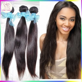 Top quality 3 Bundles Virgin Weave  Natural Silky Weft Straight Hair Russian RAW Hair Extension Off Black