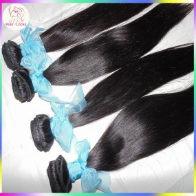 Sample Bundle 10A Russian human Virgin Raw hair weave Cuticle intact,no acid wash,Can be flat ironed