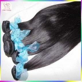 Promotion 10A RAW Russian Straight Virgin Hair Weaves 100% Unprocessed Weft natural colors 3pcs/lot No Silicon Coating