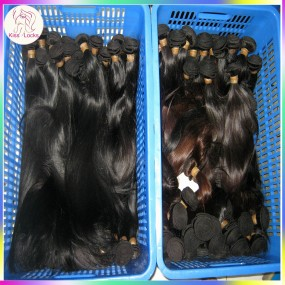 Colored Human Hair Brazilian Straight Extension 4pcs/lot Jet Black Dark color bundles Dyed Hair Bundles Grade 7A