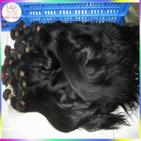 4 bundles Dyed Straight Brazilian Hair Dark Jet Black Weaves Colour #1 100% Human Hair