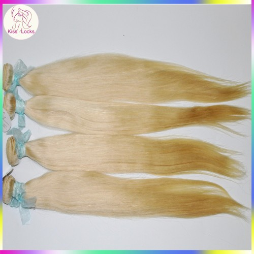 Caucasian Celebrity Style 100% Virgin Russian Silky Straight Blonde #613 Weave 4pcs/lot Great Quality 10A