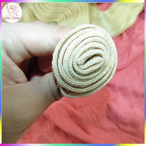 100g 1pc Color #613 Light Blonde Hair Weave Russian Human Hair Tangle free Can be dyed Best grade 10A