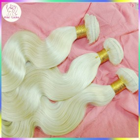 200g Excellent Quality Premium Hair Russian Blonde Human Hair Extension Dyeable Soft Weaves Fast Expedit Shipping