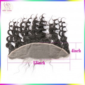 Cambodian loose more wavy deep wave Lace frontal Natural hair line No Tangle Natural color fast shipping ship in 7  days