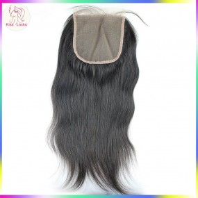"Large size Closure 5""x5"" Swiss Lace 100% Virgin Straight Human Hair Matching types Brazilian,Peruvian,Indian & Malaysian"