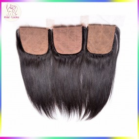 Raw Virgin Human Hair Silk base Clousres Different Matching hair Types 4x4 More Natural Brazilian,Malaysian,Peruvian,Indian Types
