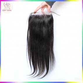 Big 5x5 straight human hair lace closure free part&middle part Eurasian,Mongolian,Russian,Bohemian,Persian Hair Types