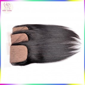 Excellent Quality Silk Base Closure Natural Straight Raw Virgin Human Hair types Eurasian,Russian,Persian,Mongolian