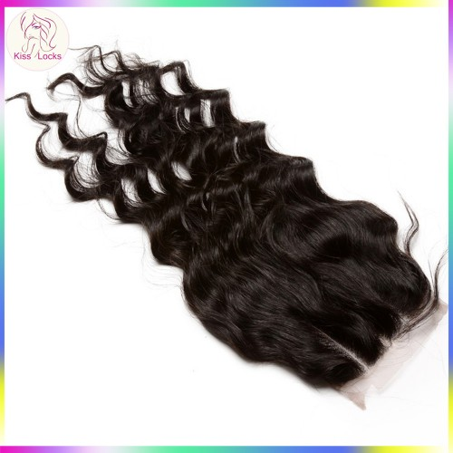 Free part Loose Curly More wavy Closure(can bleach knots) Virgin human hair 4x4 closure Hair types Russian,Eurasian,Mongolian,Persian,Armenian