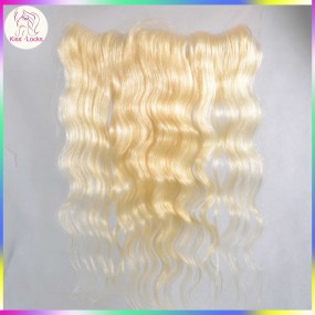 Pre Plucked 613 Lace Frontal Closure 13x4 Body Wave Russian Remy Hair With Baby Hair