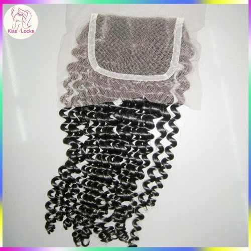 100% Material Kinky Curly Closure Premium Quality 150% Density RAW VIRGIN Cutile Hairs Mongolian,Russian,Laotian