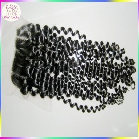 one/two/three part Lace Closure Virgin Raw Kinky Curly Human Hair Matching Hair Types Indian,Mongolian,Malaysian Grade 10A