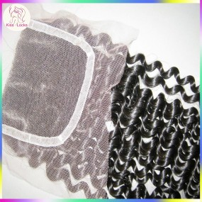 Real People Human Hair French Lace Closure Durable Quality Jerry Curls Human Hairs Brazilian,Filipino,Cambodian origins 150% Density