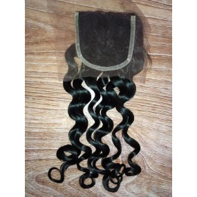 Romance curl Loose curly Lace Closure free parting 4x4 Swiss lace Virgin Raw Human Hairs Malaysian,Burmese