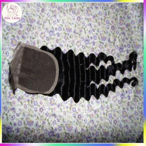 Loose Deep Wave Lace Closure 4x4 Unprocessed Virgin Hair Loose Curly Top Closure