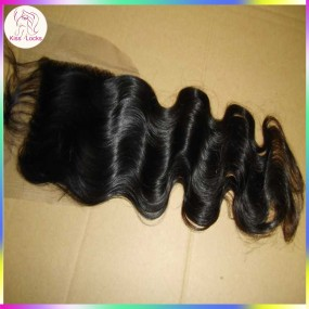 French Lace Closure 4x4 Virgin Natural Human Hair 1 piece No tangle or matting Hair Types Peruvian,Indian & Malaysian