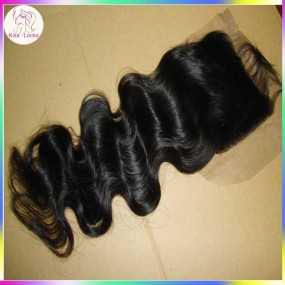Unprocessed Brazilian Body wave Virgin Human Hair Swiss Lace Top Closure 4x4 Free parting,Middle Part,Three way part Fast shipping