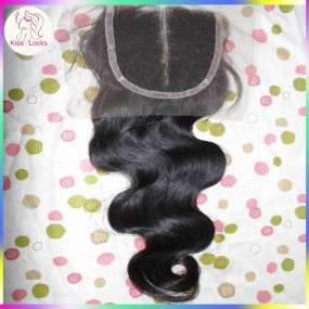 New arrival RAW Filipino body wave lace closure raw virgin hairs material Can be parted Top Quality