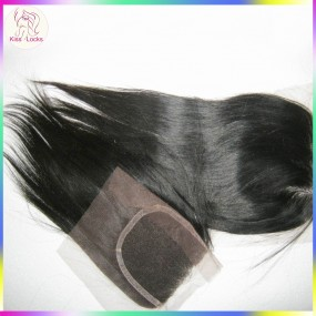 New Arrival Silky 10A Straight Malaysian Virgin hair lace top closure Free part,Middle part, three way part in stock
