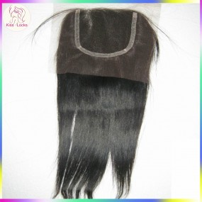 "BLACK FRIDA 10A Gorgeous Filipino lace closure unprocessed virgin straight hair 10""-20""inch Soft Silky KissLocks RAW hair"