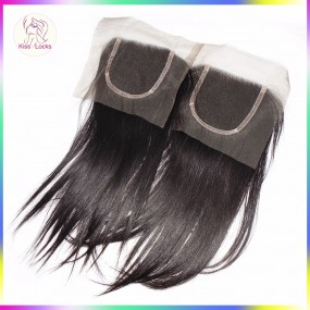 virgin raw straight Human Hair Filipino Hair origins Grade 10A Silky Straight Lace Closures Wholesale 10 packs/lot