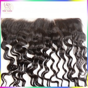 Laotian Filipino Loose curly Lace frontal Closure ear from ear No shedding Virgin unprocessed human hair ship in 7  days