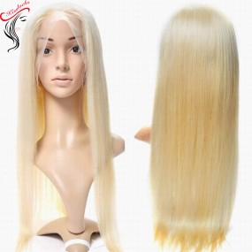 New Arrival 613 Blonde Lace Frontal Wig 100% Human Hair Remy Natural Straight Texture Medium Wig with adjustable strap