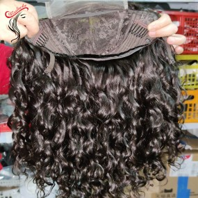 Lace Closure wig Raw Cambodian Hair Water wave straight Pre-order Transparent/HD swiss lace wigs 5x5 wigs Natural hairline