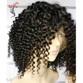Afro kinky Curly Brazilian human hair wig Virgin Unprocessed Natural Hairs Heavy 180% density with baby hairs Preorder(ship within 2-3 days)