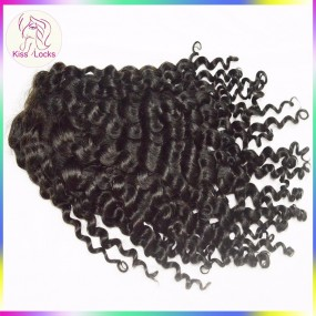 Deep Curly Lace front wig Virgin Indian Human Hair Medium wig cap can be flat ironed Grade 10A