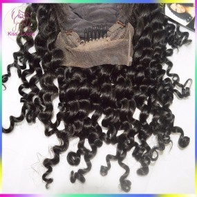 Kinky curl lace human hair wigs for black women peruvian virgin front lace human hair wigs heavy density Grade 10A