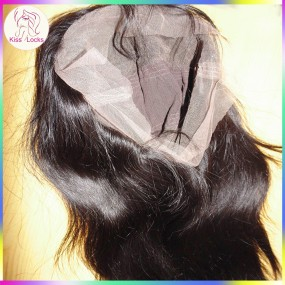 Promotion Deal Virgin Peruvian Indian Temple Hair Raw Straight Full Lace Wigs Average Wig Cap Medium Brown Swiss Lace Color